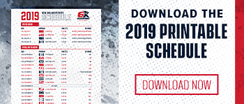 2019 Printable Schedule